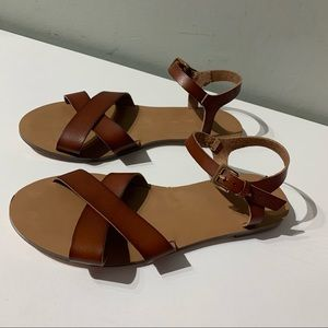 J.Crew sandals crisscrossed with Ankle strap